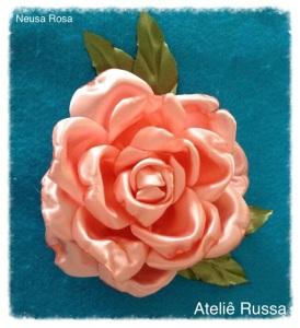 Tutorial - Rosa de fita de cetim